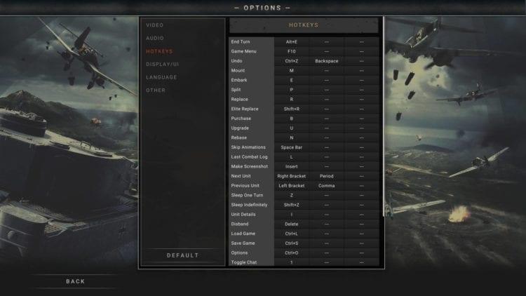 Pzc2 Options Controls