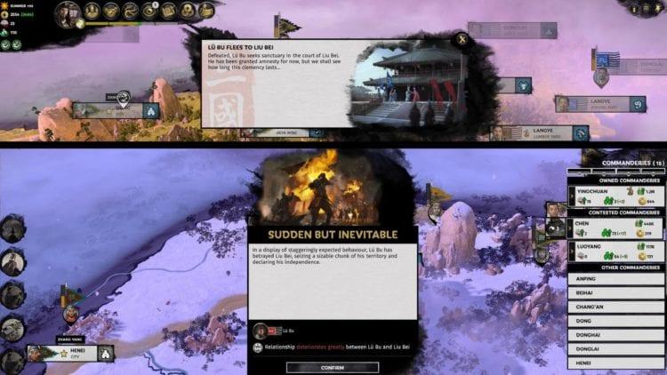 Total War Three Kingdoms A World Betrayed Cao Cao Guide Lu Bu Event