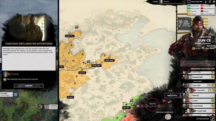 Total War Three Kingdoms A World Betrayed Yan Baihu Faction Guide Bandit Factions Zheng Jiang Zhang Yan White Tiger Bandit Network Emperor Yuan Shu