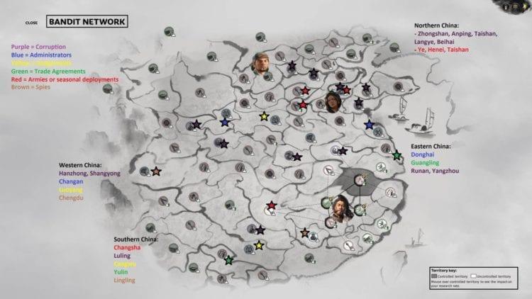 Total War Three Kingdoms A World Betrayed Yan Baihu Faction Guide Bandit Factions Zheng Jiang Zhang Yan White Tiger Bandit Network Infographic