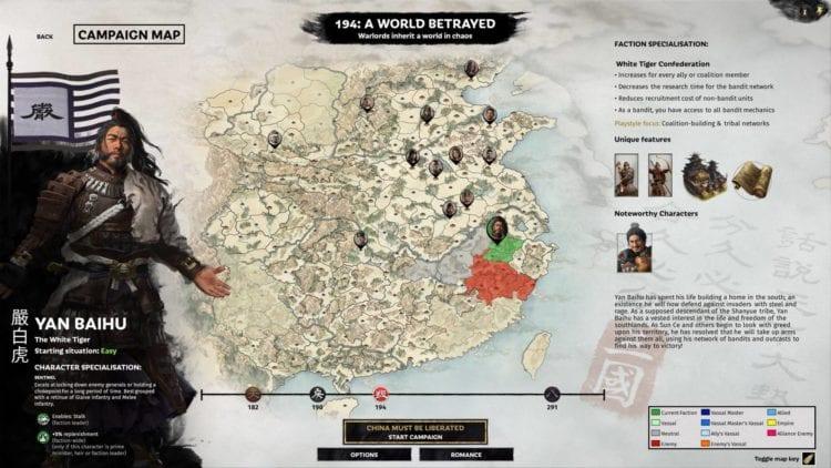 Total War Three Kingdoms A World Betrayed Guides And Features Hub Lu Bu Sun Ce Yan Baihu Faction Selection