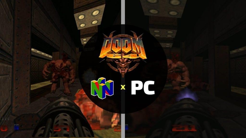 Doom 64 Comparison Nintendo 64 Pc Feat