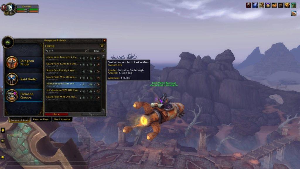 World Of Warcraft 2x4 Farming