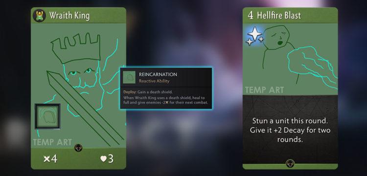 Artifact Beta 2 Wraith King Hellfire Blast
