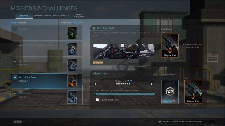 Best Of The Best Challenge Call Of Duty Warzone Modern Warfare