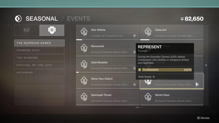 Destiny 2 Guardian Games Event Heir Apparent Exotic Machine Gun Class Act Triumph Triumphs Page