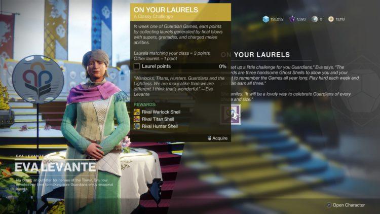 Destiny 2 Guardian Games Event Guide Medals Laurels On Your Laurels Exotic Ghosts