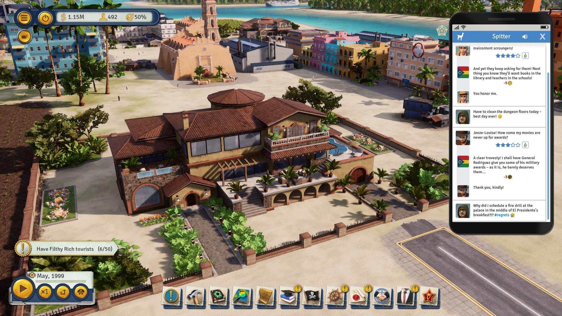 Доминировать в социальных сетях в Tropico 6 с новым Spitter Dlc (2)