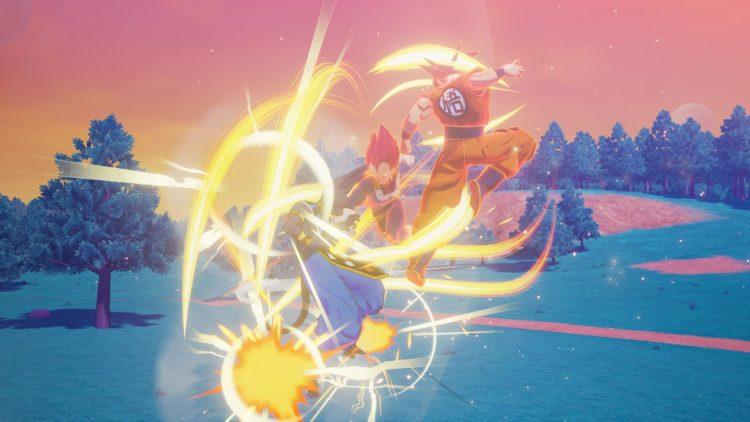 Dragon Ball Z Kakarot Goku And Vegeta Fight Beerus