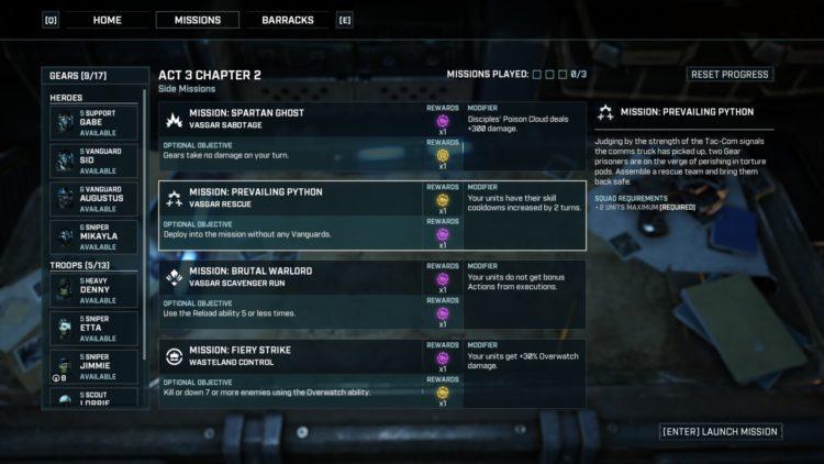 Gt Cmis Mission List
