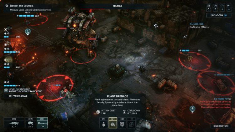 Gears Tactics Brumak Boss Fight Guide Missile 1