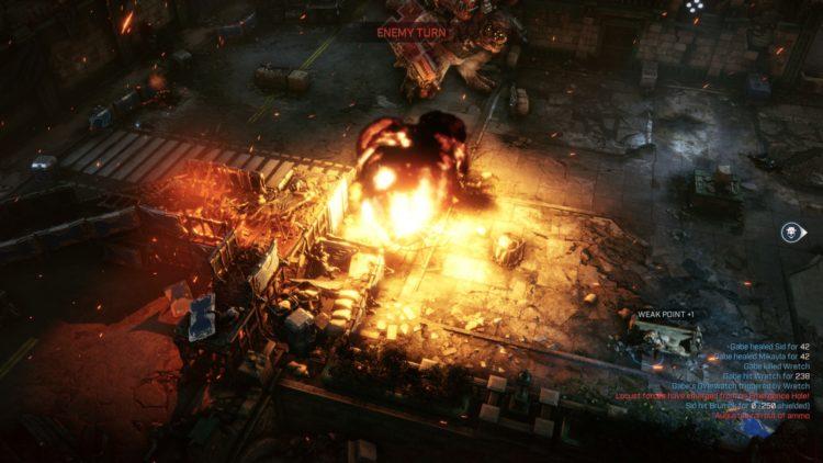 Gears Tactics Brumak Boss Fight Guide Missile 2