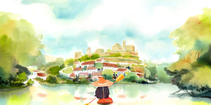 Gorgeous Watercolor Adventure Dordogne Pays Homage To Memories & Family (1)