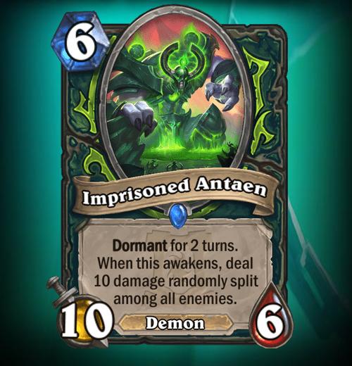 Hearthstone Demon Hunter Card Nerf Imprisoned Antaen