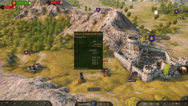 Mount & Blade Ii Bannerlord Mount And Blade Ii Bannerlord Clan Ranks Caravans Workshops Map