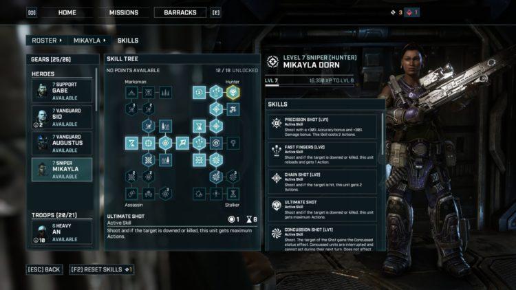 Sniper Class Skills And Builds Guide Gears Tactics 2 Spec