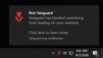 Valorant Vanguard Anti Cheat Blocking