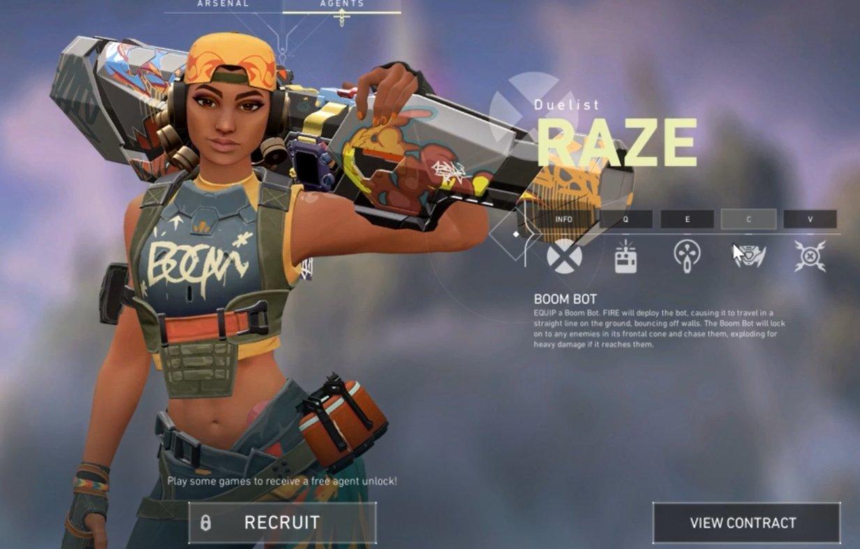 Valorant Beta Reveals New Agent Raze
