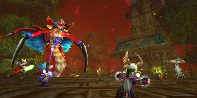 World of Warcraft Classic Wow Classic Hakkar five priests Zul'Gurub Hakkar 1920x1080