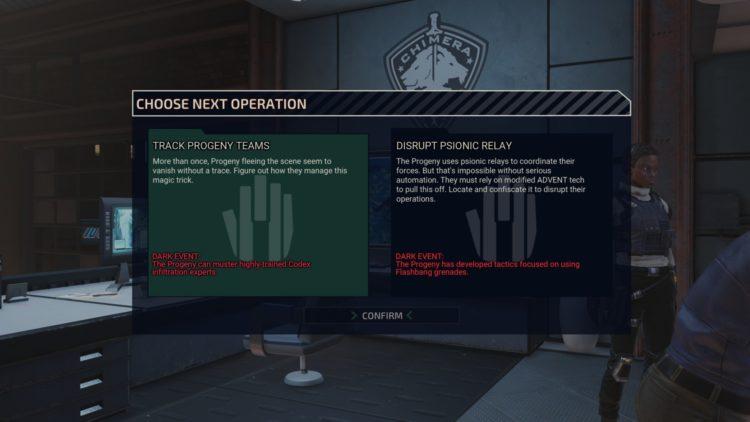 Xcom Chimera Squad Missions Factions Guide The Progeny Dark Events Codex Dark Event