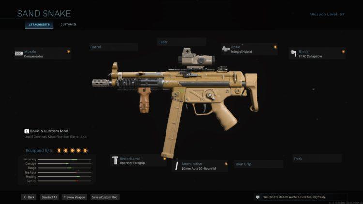 Call Of Duty Warzone Modern Warfare Sand Sake Blueprint