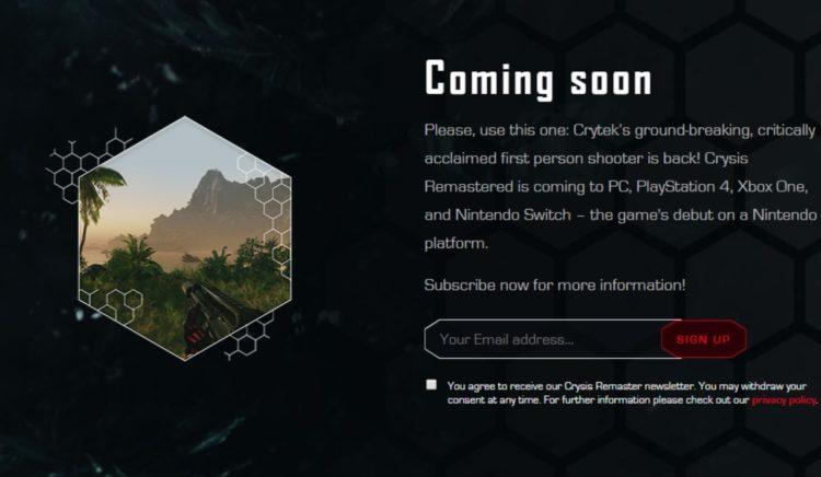 Crysis Remastered Leak Leaked Pc Soonpage
