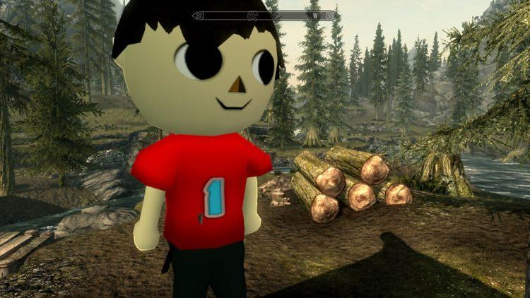 The Villager Skyrim Mod Animal Crossing New Horizons