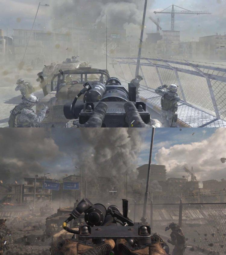 Call Of Duty Modern Warfare 2 Danger Close Comparison