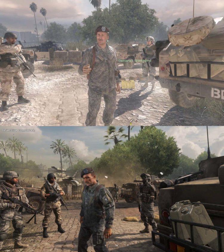 Call Of Duty Modern Warfare 2 General Shepherd Comparison