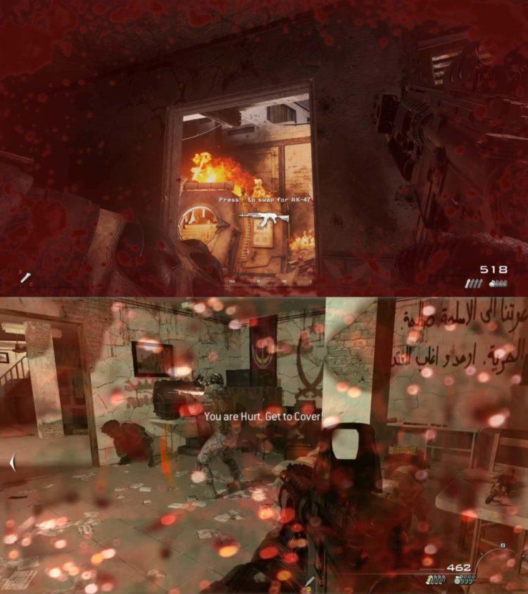 Call Of Duty Modern Warfare 2 Near Death Comparison
