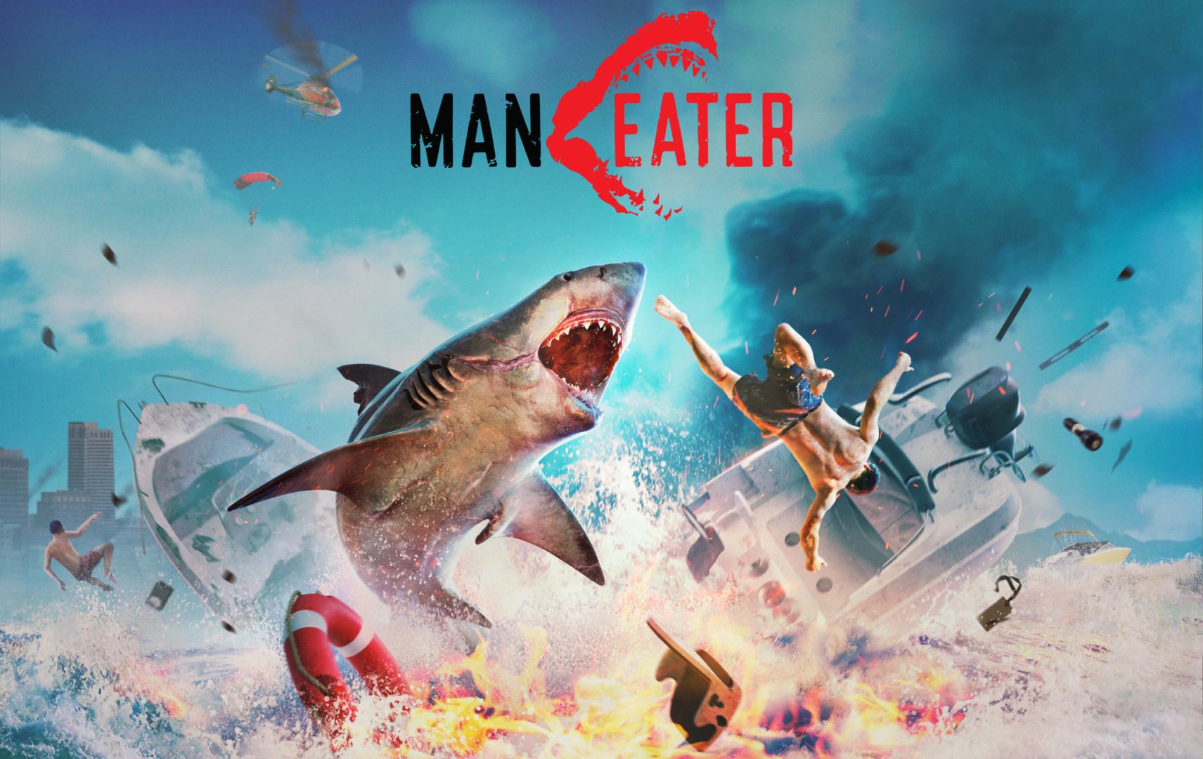 Maneater Tripwire Interactive Shark Key Art