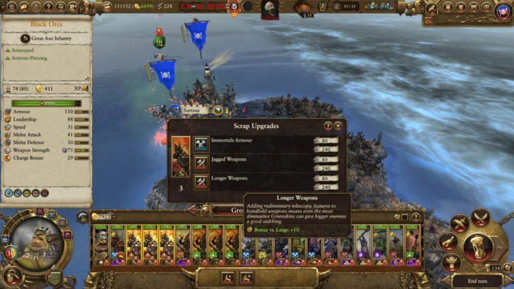 Total War Warhammer Ii The Warden & The Paunch Greenskins Overhaul Waaagh Scrap Grom The Paunch 3 Buff