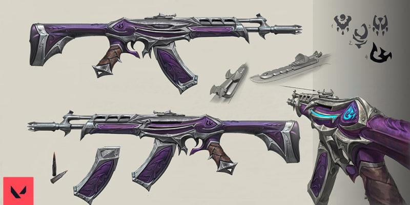 Riot Valorant Weapon Concept Art