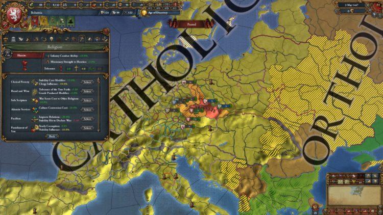 Europa Universalis Iv Emperor Review Europa Universalis 4 Emperor Review Bohemia Hussite Austria Holy Roman Empire 6