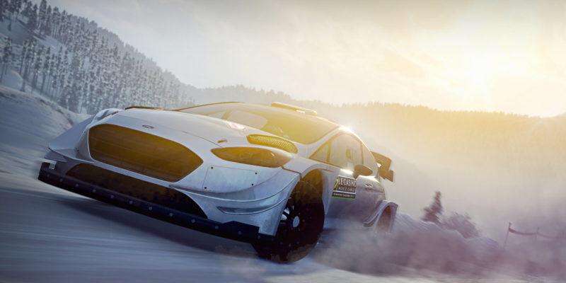 World rally championship WRC 8 snow drift