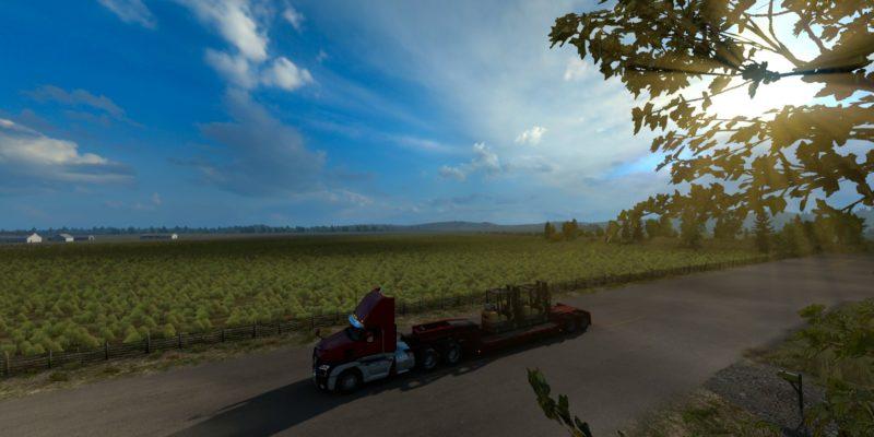 American Truck Simulator Idaho Field Sunrise