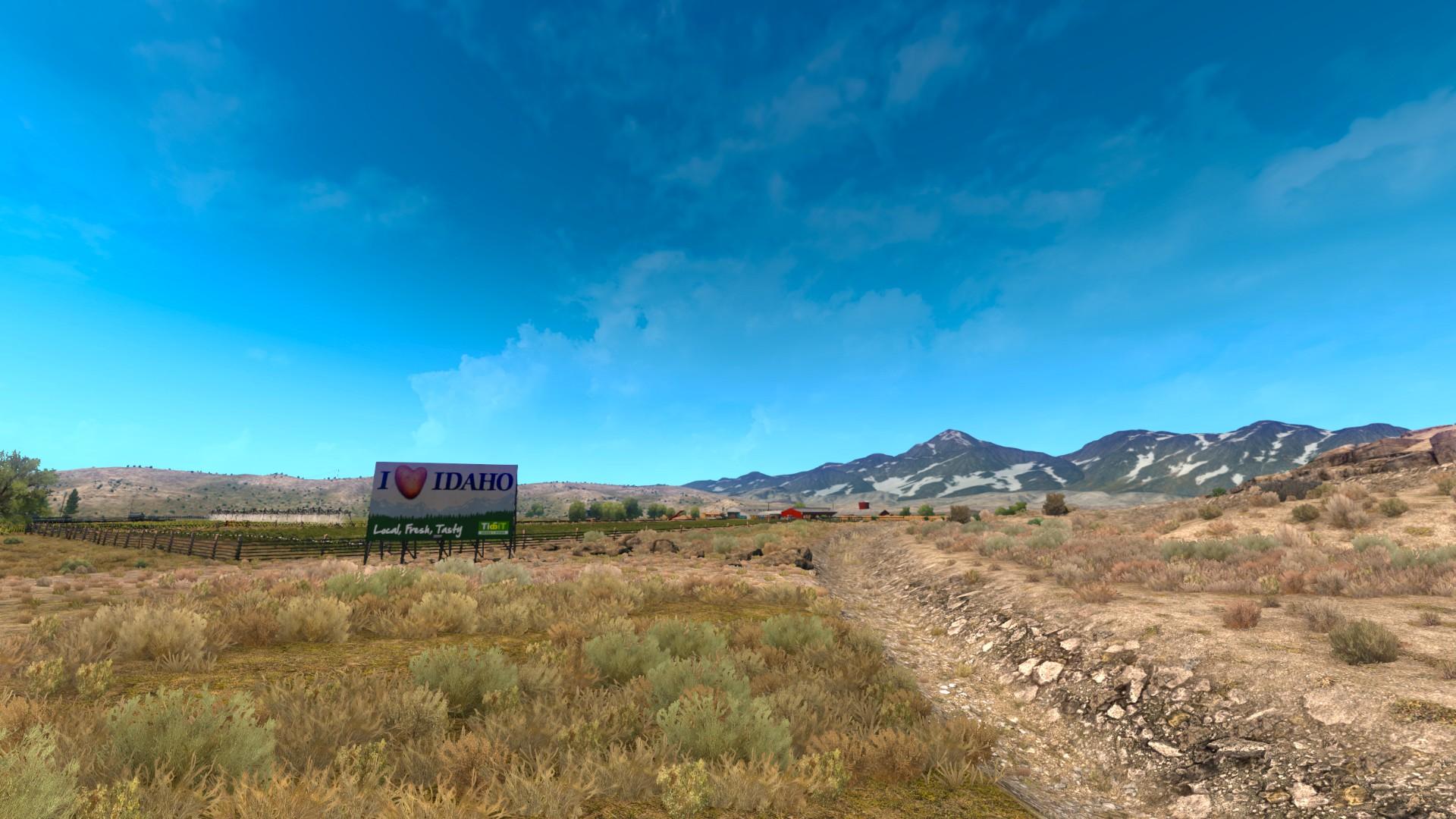 ATS - I Love Idaho Sign in a field
