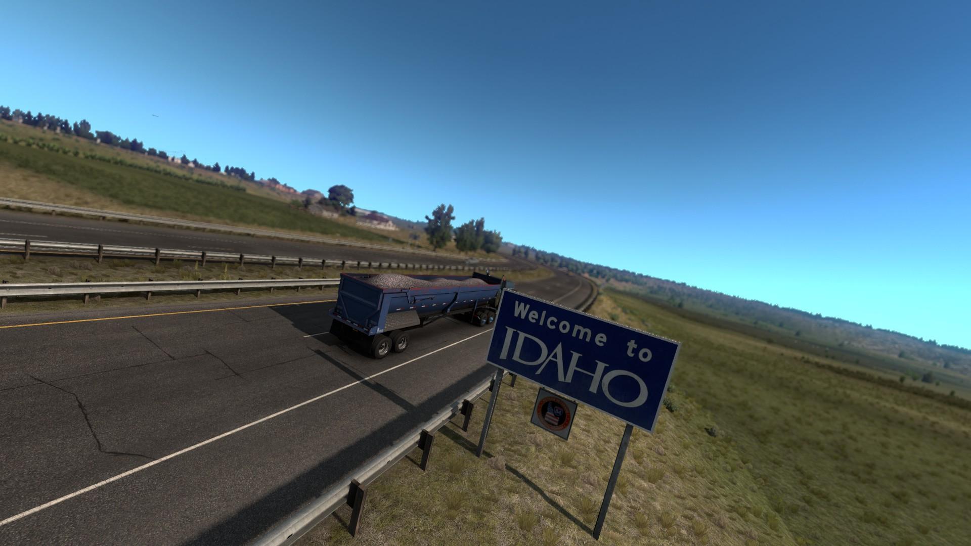 American Truck Simulator Idaho Welcome Sign