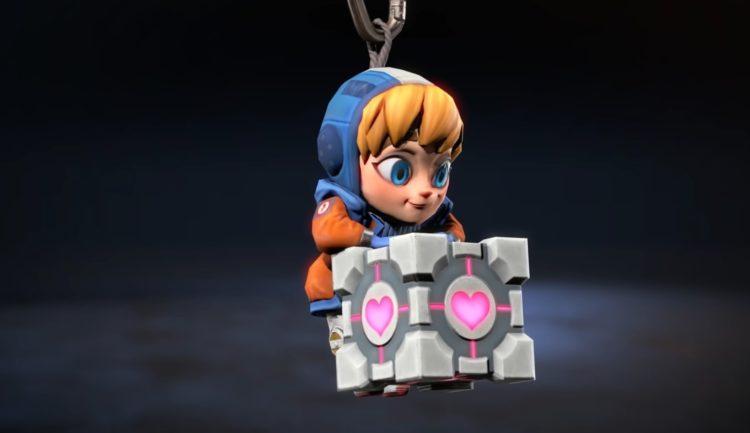 Apex Legends charms featuring Portal Companion Cube