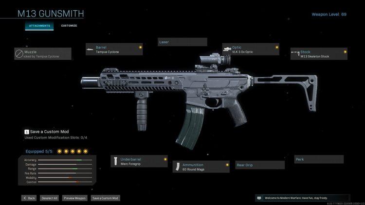 M13 Grau Warzone
