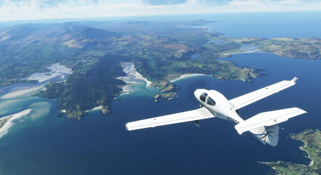 Microsoft Flight Simulator Diamond Over The Water