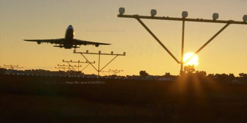 Microsoft Flight Simulator 747 Landing