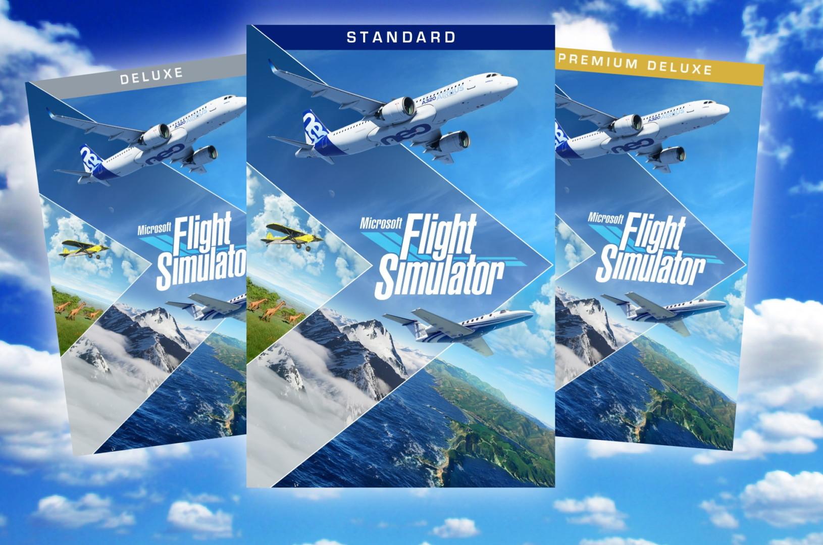 Microsoft Flight Simulator Standard Premium Premium Deluxe