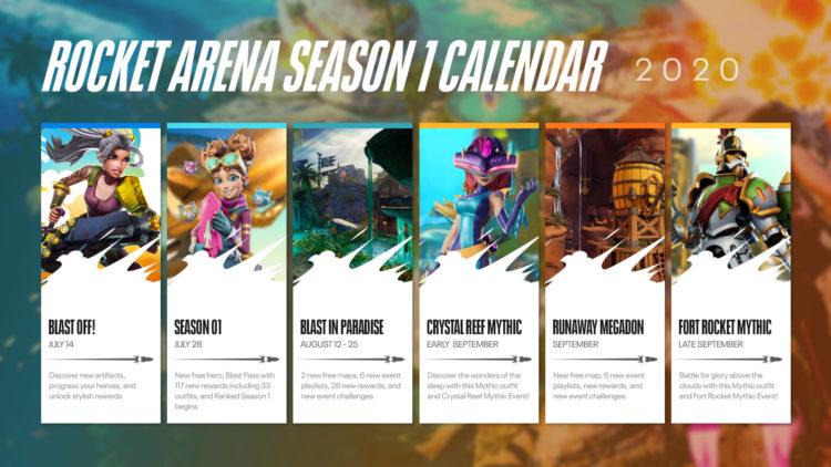 Rocket Arena free weekend season 1 calendar