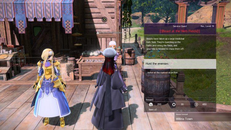 Sword Art Online Alicization Lycoris Beast Sightings Enanza's Request Reunalt's Request 1
