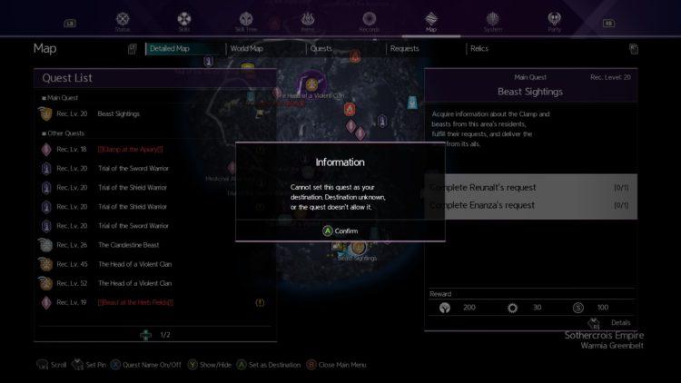 Sword Art Online Alicization Lycoris Beast Sightings Enanza's Request Reunalt's Request 3
