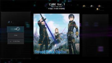 Sword Art Online Alicization Lycoris Cube Ticket Cube Shop Daily Quest Sao Shop