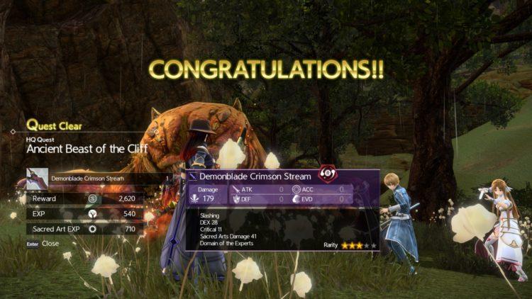 Sword Art Online Alicization Lycoris Godhorn The Abominable Divine Beast Guide Monolith Treitis Pass Boss 4