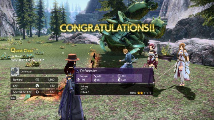 Sword Art Online Alicization Lycoris Greeneye The Absent Divine Beast Rivalier Forest Sustnel Mountains Monolith 2c