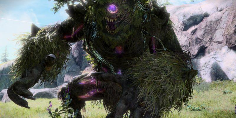 Sword Art Online Alicization Lycoris Greeneye The Absent Divine Beast Rivalier Forest Sustnel Mountains Monolith 5a